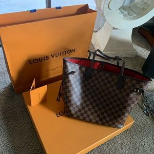 Authentic Louis Vuitton Cherry Neverfull tote bag
